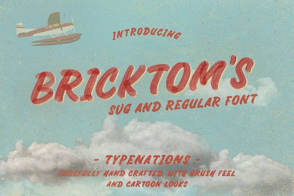 Fonts: Typenations - Bricktoms SVG & REGULAR