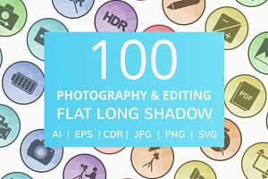 100 Photography & Picture Icons