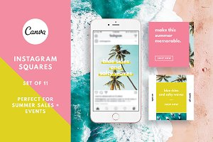 Tropical Summer Instagram Canva