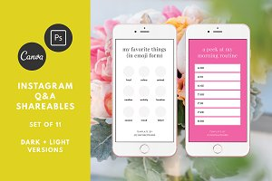 Instagram Q&A Shareables Canva/Adobe