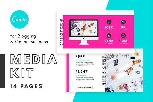 Media Kit/Proposal Bloggers Canva