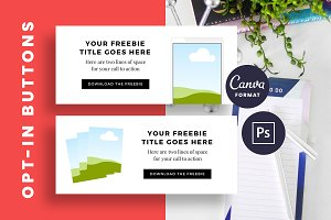 Opt-In Button Template Canva/Adobe