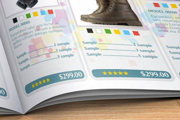 product catalog brochure templates creative market