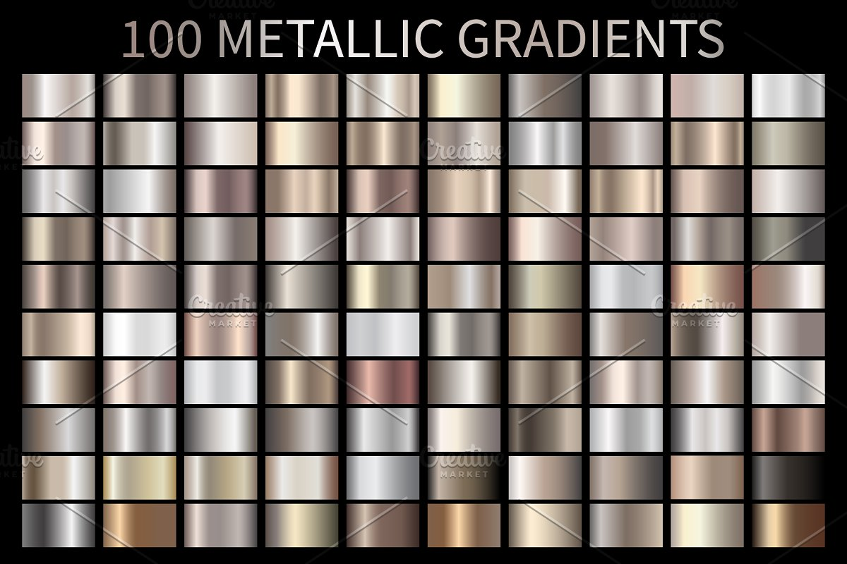 Metallic Bronze Gradients AI GRD ESP