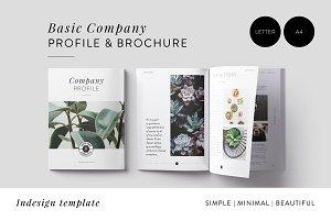 Minimal Company Profile + Brochure