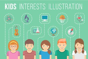 Kids Education Infographic Element