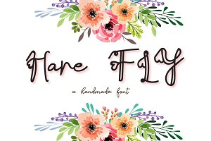 Hare Fly font