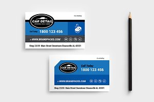 Car Detailing Business Card