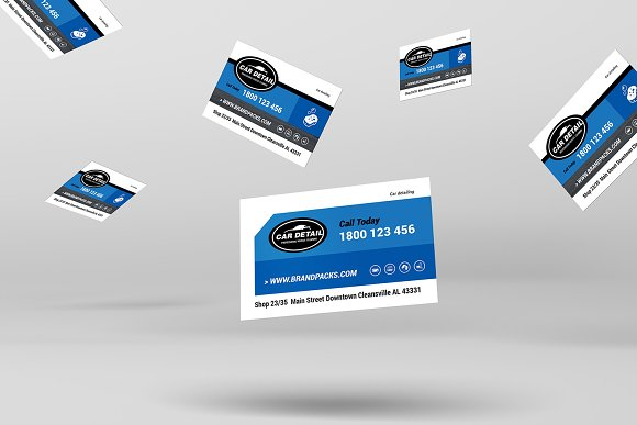 Car Detailing Business Card Business Card Templates Creative Market