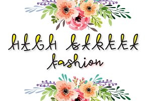 High Street Fashion :multicolor font
