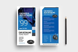 Car Detailing DL Card Template