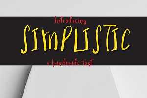 Simplistic typeface
