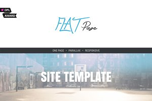 Flatpage - One Page Responsive Theme