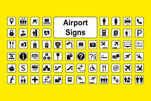 Huge set of airport icons
