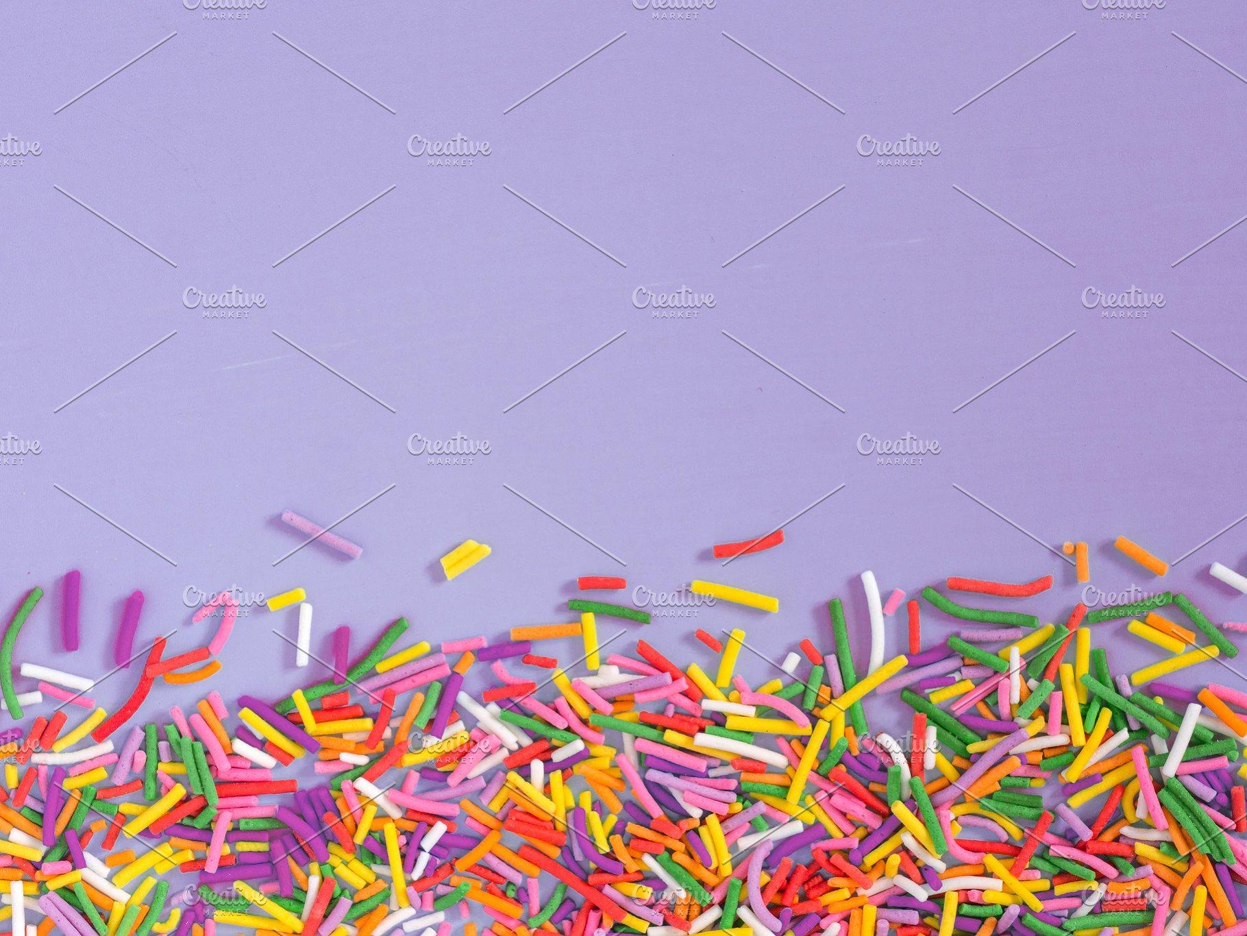 Border frame of colorful sprinkles