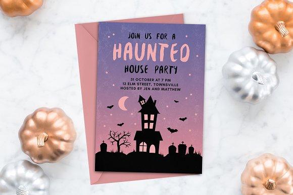 halloween invitation haunted house invitation templates