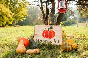 Happy autumn outdoors