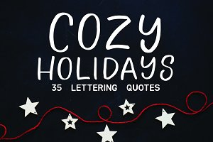 COZY HOLIDAYS - Lettering set