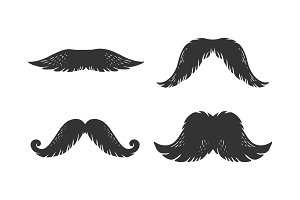Moustache engraving illustration