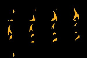 Sprite Sheets Fire Loop. Ready for