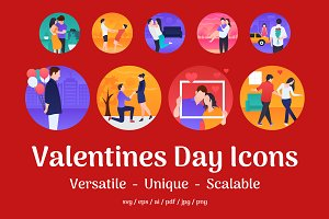 75 Valentines Day Icons