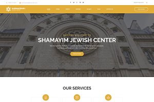 Jewish Center WordPress Theme