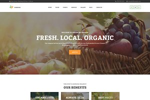 Organic Farming WordPress Theme
