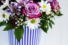 Bouquet of pink flowers by  in Holidays