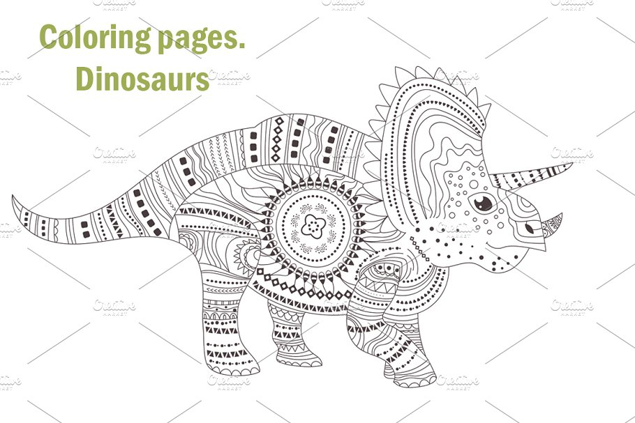 Dinosaurs. Coloring pages