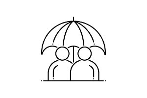 Permanent life insurance icon