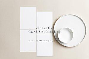 Minimal Pale Beige Card Set Mockup