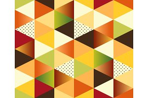 Geometric Autumn Seamless Pattern