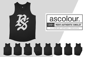 AS Colour 5004 Men's Singlet Mockups