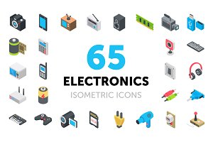 65 Electronic Device Icons