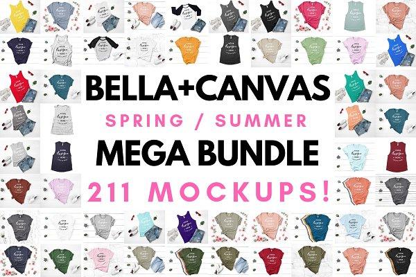 Bella Canvas T-Shirt Mockup Bundle