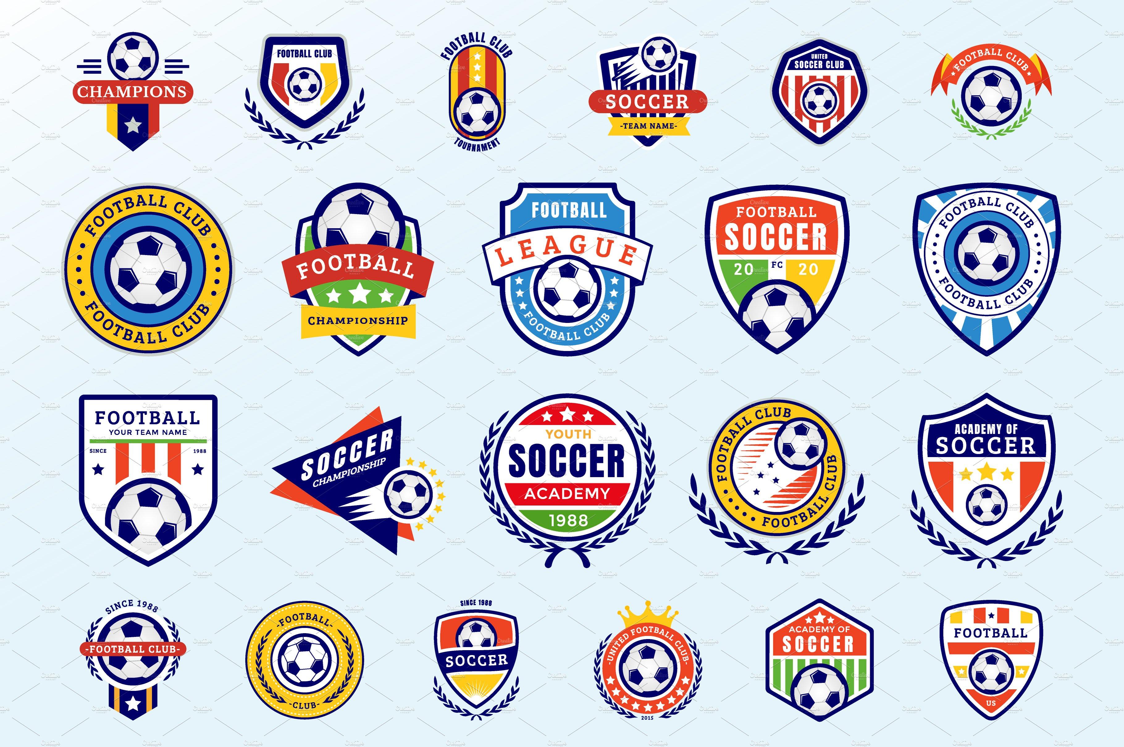 Soccer Badges Icons Creative Market