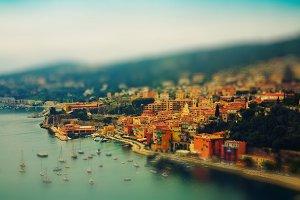 resort and bay of Cote d'Azur in Fra