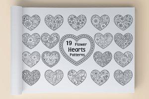Flower Hearts patterns