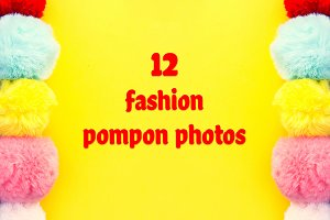 Colorful pompon backgrounds