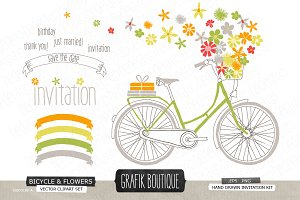 Bicycle with wild flowers