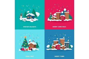 Concepts of winter holidays