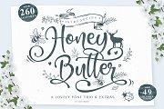 Honey Butter • Font Trio & Extras
