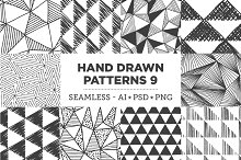 Hand Drawn Patterns 9: Triangles