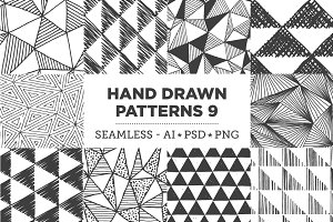 Hand Drawn Patterns 9: Triangles