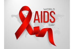 World Aids day concept. Realistic