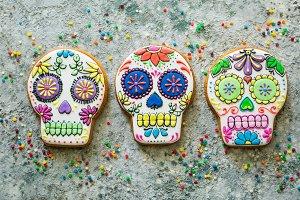 Dia de los muertos concept - skull