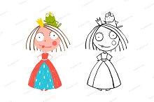 Princess and Prince Frog Portrait