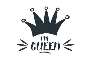 I am queen. Royal crown
