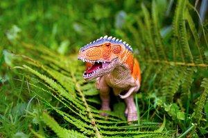 A predatory dinosaur with huge teeth