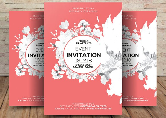 Event Flyer Invitation Card Flyer Templates Creative Market